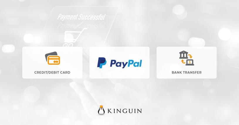Kinguin API payment methods